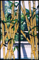 Landscape & Trees Stained Glass