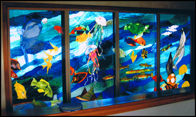 Stained Glass Fish Suncatcher Pattern