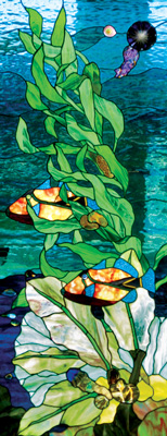Tropical fish and Jungle Stained Glass